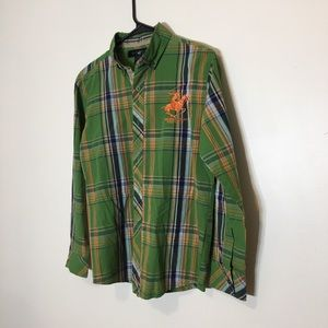 Beverly Hills Polo Club Button Down Shirt Size L